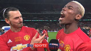 """I came for free, they bought you!"" - Zlatan Ibrahimovic & Paul Pogba joking with each other"