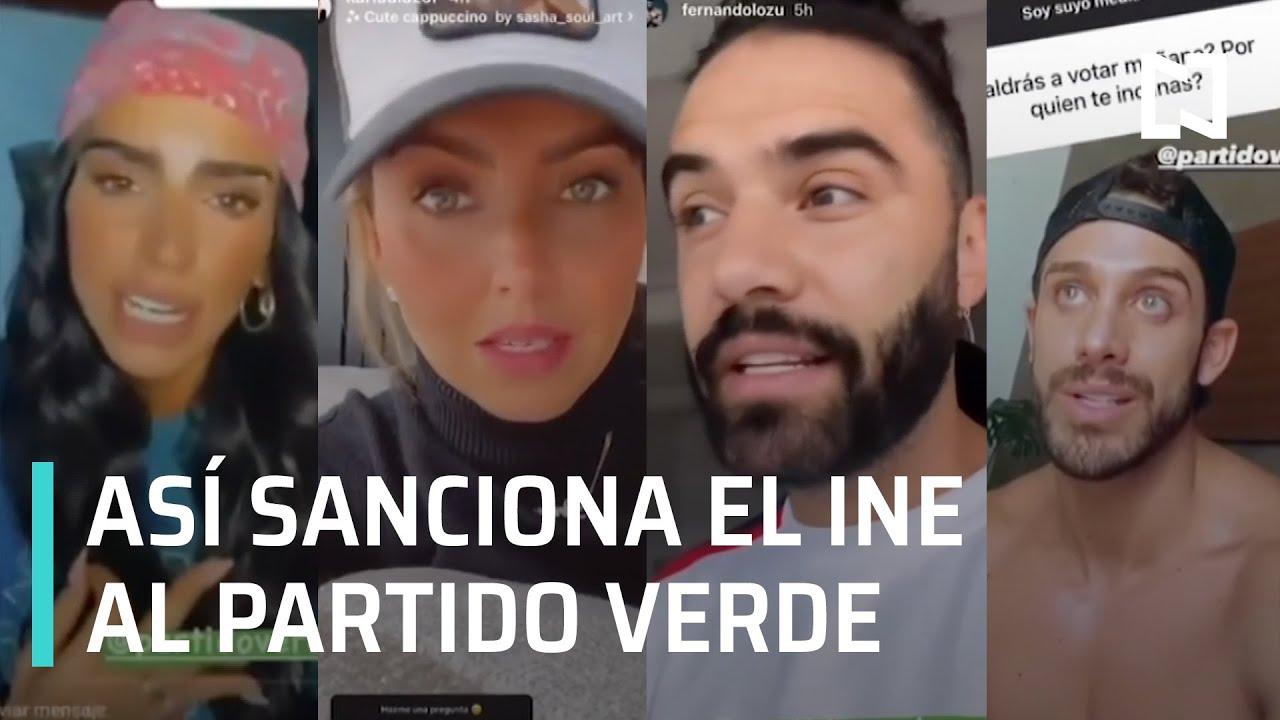 INE sanciona al Partido Verde por violar veda electoral   Influencers del Partido Verde - En Punto