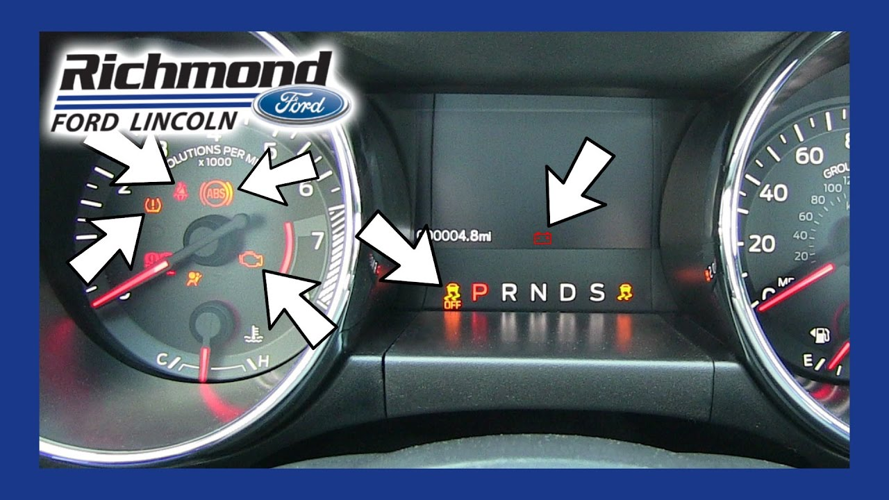 Ford Mustang What Do All Of These Dash Lights Mean