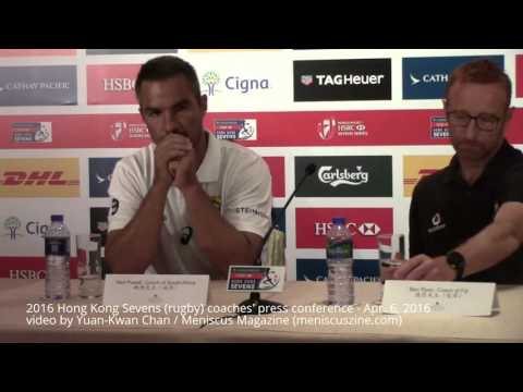 2016 Hong Kong Sevens (rugby) coaches' press conference - Apr. 6, 2016 - Meniscus Magazine