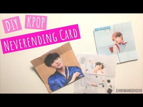 DIY KPOP (BTS) Neverending Card TUTORIAL