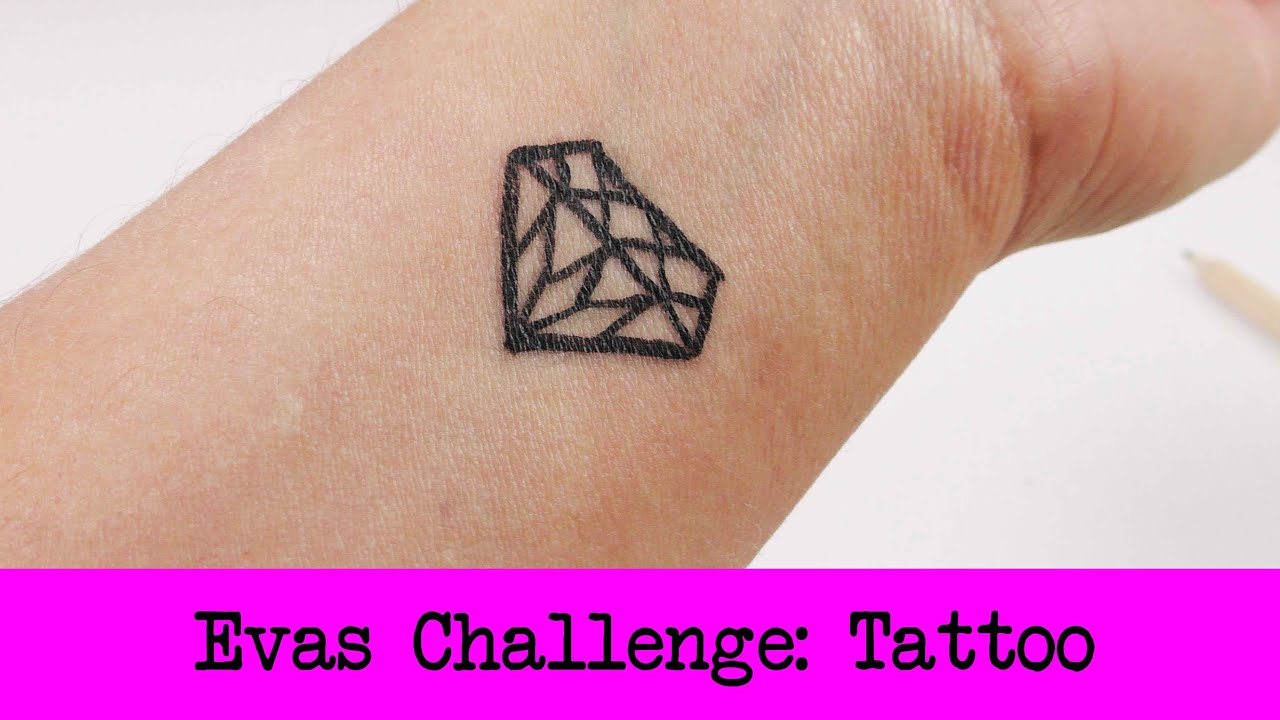 diy inspiration challenge 20 tattoo evas challenge tutorial do it yourself youtube. Black Bedroom Furniture Sets. Home Design Ideas