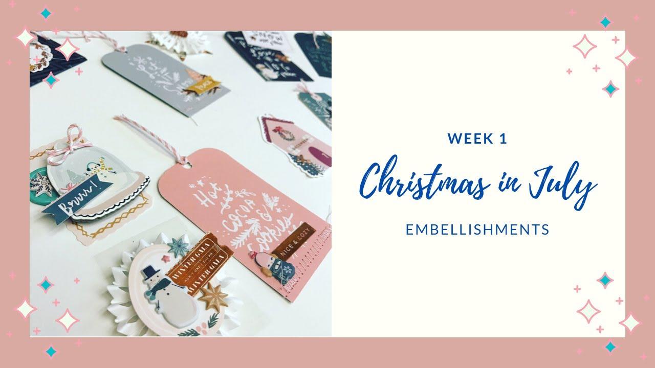 #christmasinjuly2020phachallenge  Christmas in July 2020 Week 1 Crate Paper Snowflake Embellishments