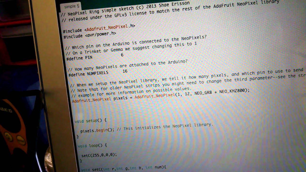 How to drive NeoPixels with an adafruit trinket pro!