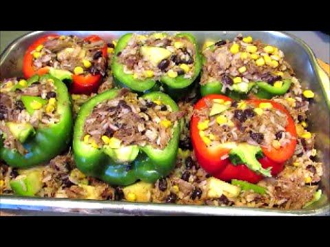 Stuffed Pepper Recipe - How to make Stuffed Bell Peppers - YouTube