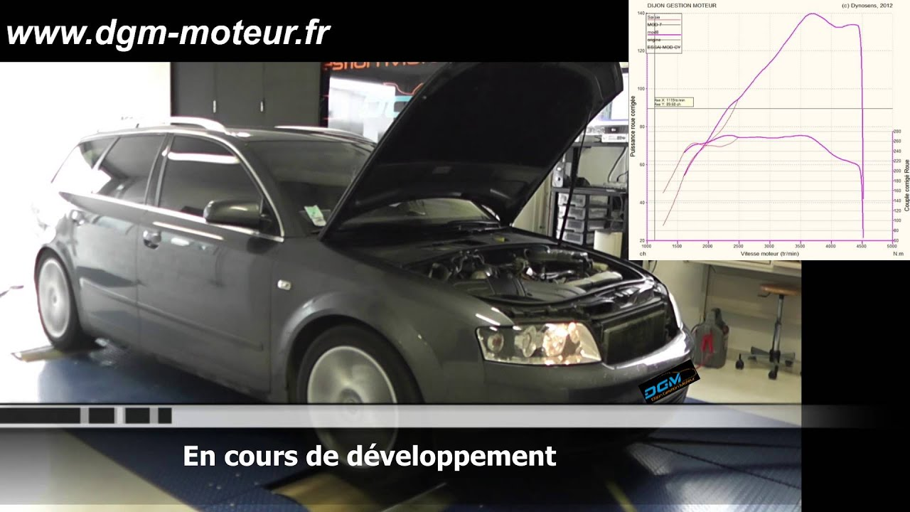 reprogrammation audi a4 2 5l tdi 163ch dijon gestion moteur youtube. Black Bedroom Furniture Sets. Home Design Ideas