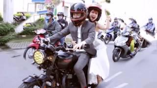 Kelvin Khánh cưỡi mô tô nghìn đô đón cô dâu Khởi My và nồng nàng khá môi trong đám cưới TIN NÓNG TV