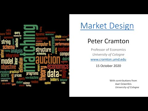 Economic Engineering Lecture 2: Auctions and Bargaining, Peter Cramton