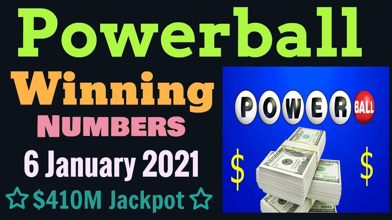 Today Powerball Winning Numbers Wednesday 6 January 2020 Powerball Drawing Tonight 1 06 2021 Youtube