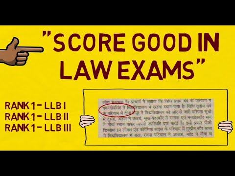 How To Write An Answer In Law Exam - Law Exam Preparation/Presentation
