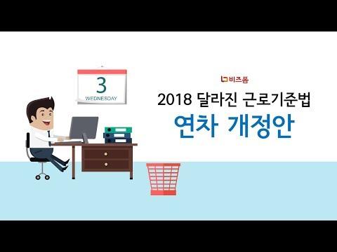 [비즈폼] 2018년 근로기준법 연차 개정안