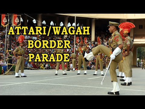 Wagah Border : Aerial View | Witness Both Parades Together for the First Time