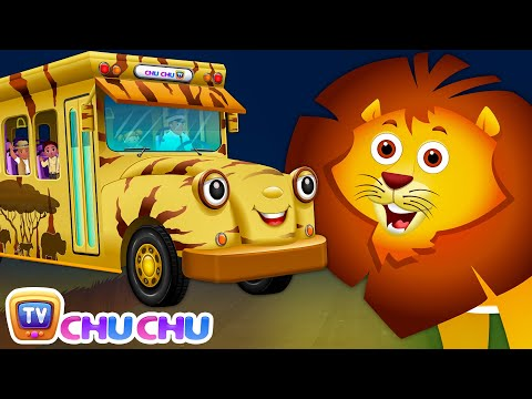 Wheels On The Bus | Kenya Jungle Book Wildlife Safari | Wild Animals and Animal Sounds | ChuChu TV