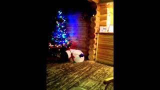 видео Надувной Дед Мороз для улицы
