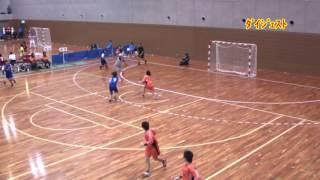 H25 第22回 JOCジュニアオリンピックカップ ハンドボール大会 岩手VS神奈川(ダイジェスト)(女子予選リーグ)