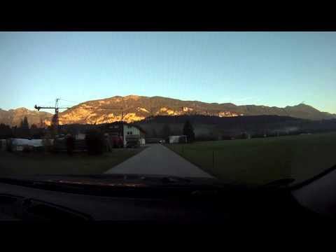 Autofahrt von Kundl zum Fallschirmspringer Sprungplatz Radfeld Tirol