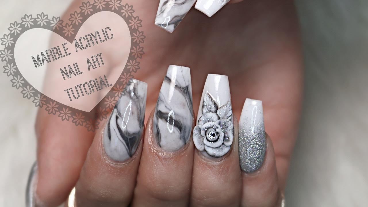 Howto Marble Acrylic Nails Youtube
