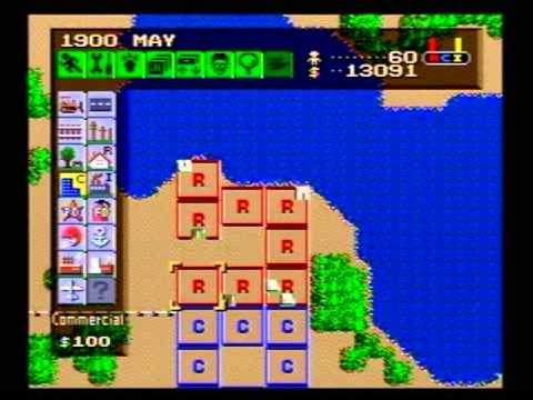 Let's Play Simcity (SNES) Episode 1: January 1900 to July 19