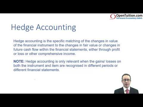 Hedging - Introduction - ACCA (SBR) lectures