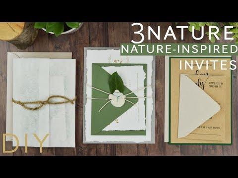 3 Nature Inspired Wedding Invitations
