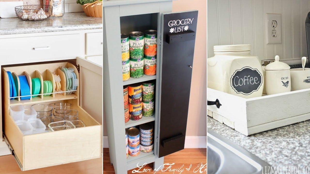 10 Low Cost Diy Kitchen Improvement Storage Ideas Youtube
