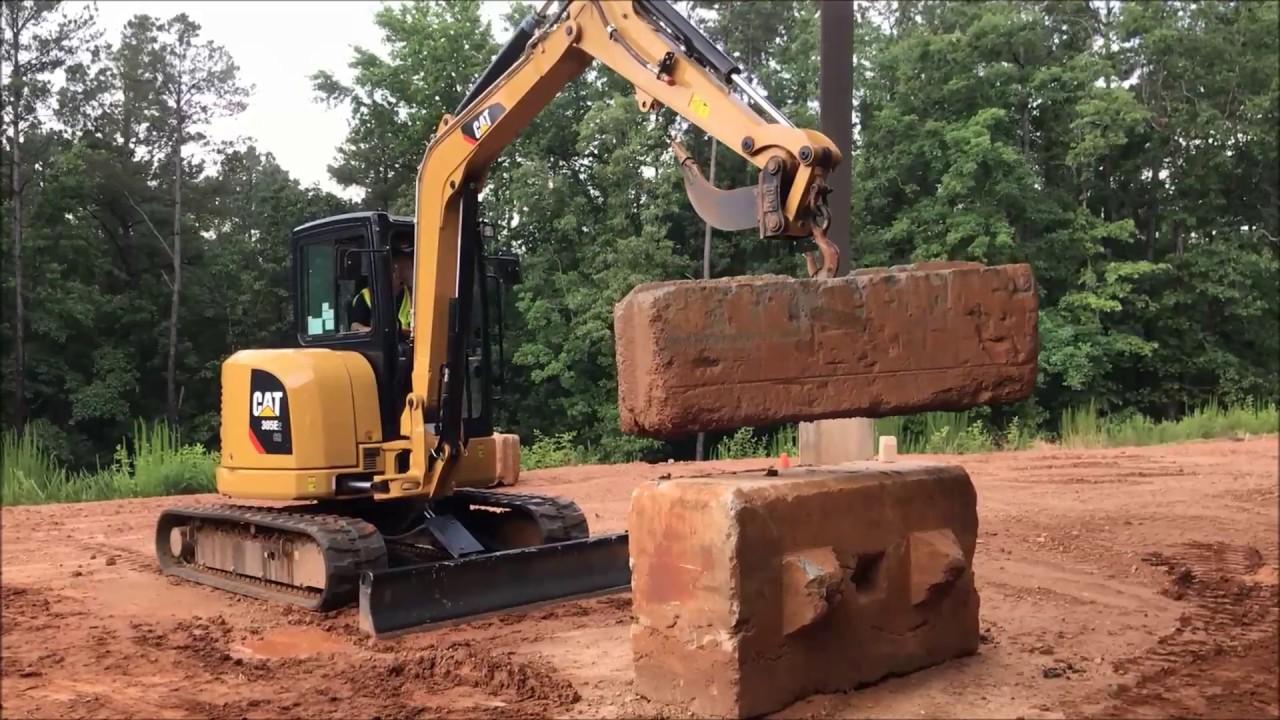 Myth Busters Cat 305e2 Mini Excavator Lifting Demo Youtube