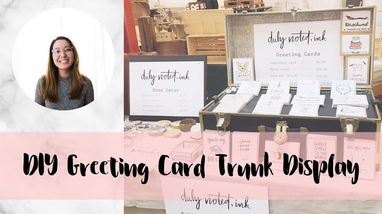 Diy craft show greeting card trunk display youtube diy craft show greeting card trunk display m4hsunfo