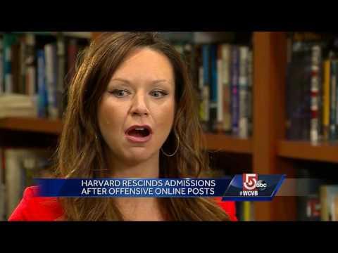 Harvard's rescinds admissions after offensive online posts