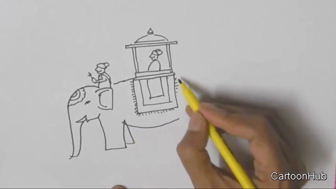 how to draw elephant pdf