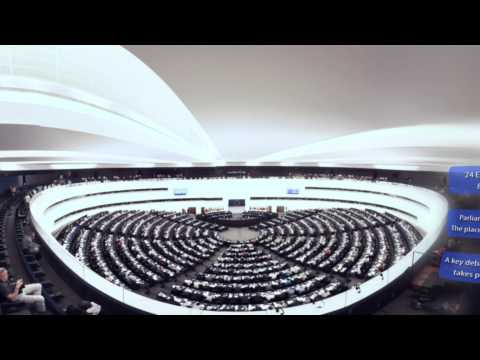 Virtual reality tour of the European Parliament