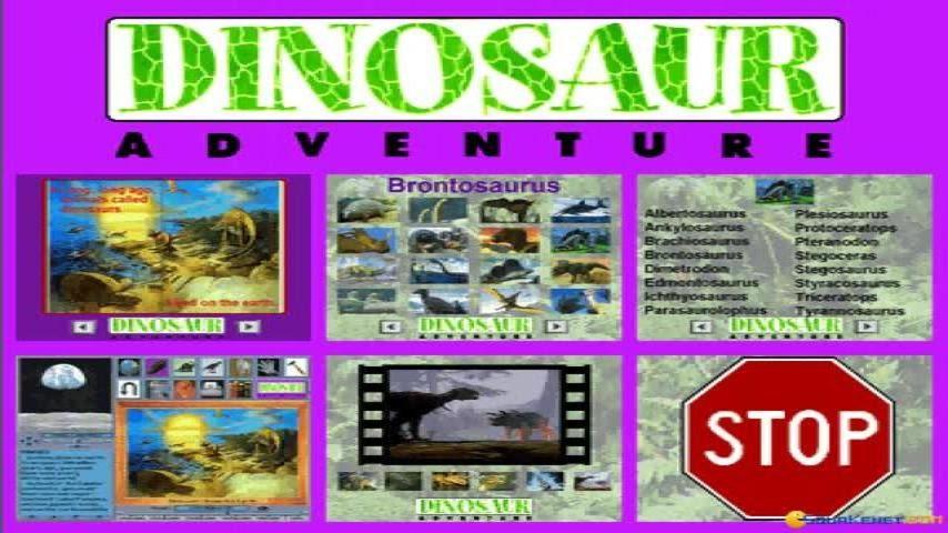 Dinosaur Adventure gameplay (PC Game, 1993)
