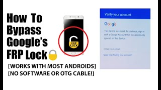 How to Bypass the Google FRP lock (WITHOUT SOFTWARE OR OTG CABLE)