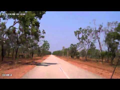 Video 244-Kakadu Highway-Gravesite Gorge (Bilkbilkmi) T/O to Maguk (Barramundi Gorge)
