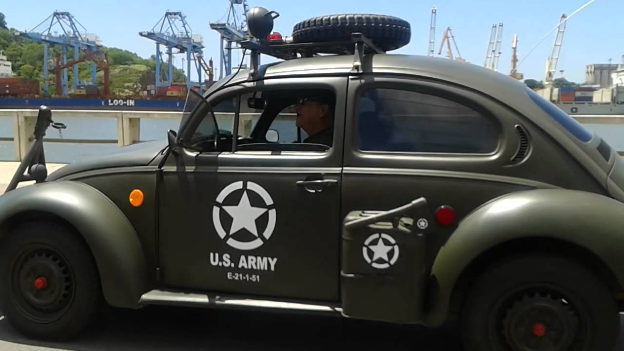 Volkswagen Beetle Convertible >> Fusca estilo US ARMY - YouTube