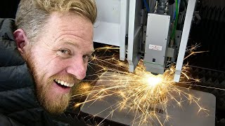 This laser cuts through 2 inch thick STEEL!