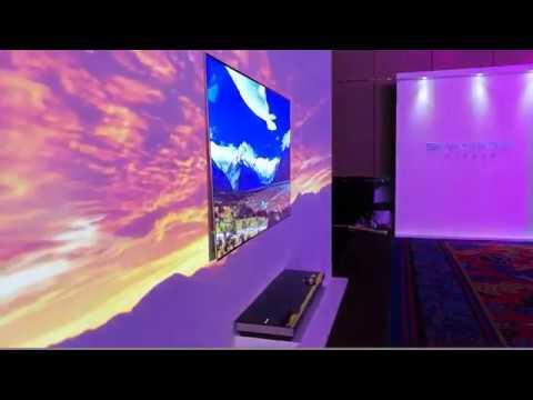Надтонкий телевізор Skyworth W9 | Skyworth Wallpaper TV 65W9 - YouTube