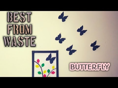Make Butterfly from waste A4 size paper | DIY | Trail N Error