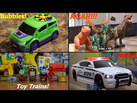 Mega Bloks Thomas & Friends, RC Police Car, Dinosaur Toys and Gazillion Bubble Car Playtime