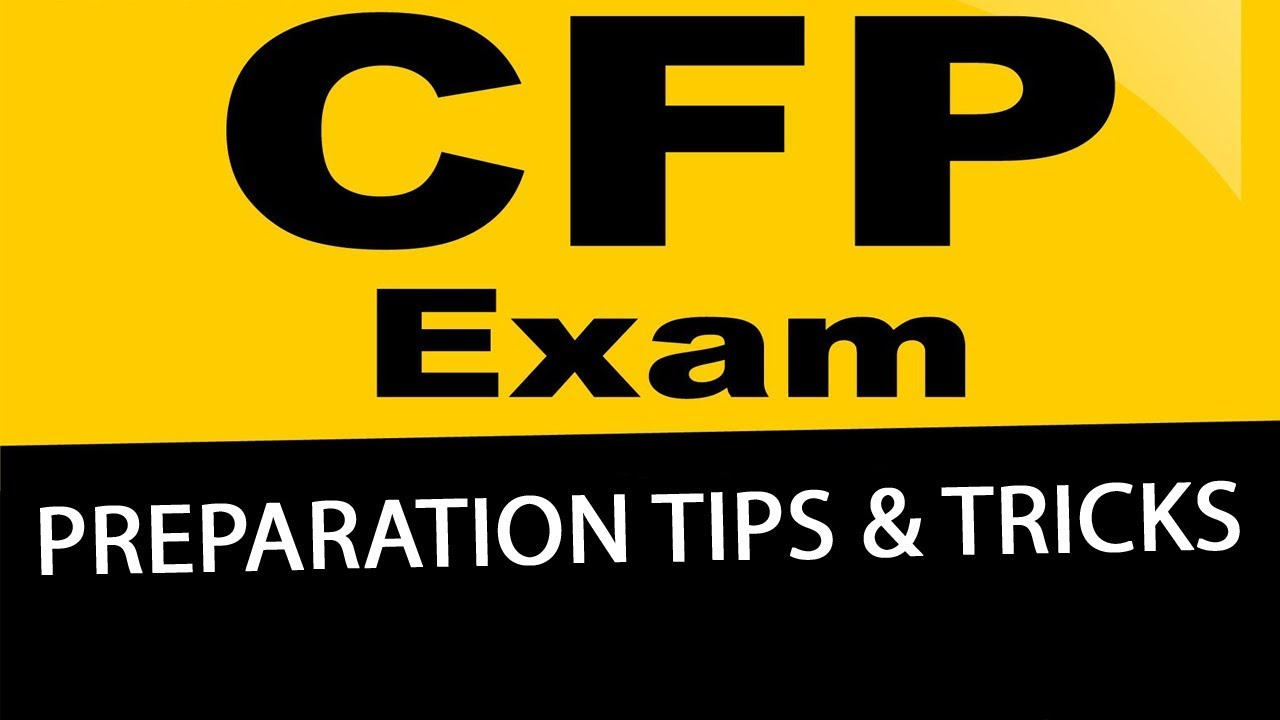 How To Prepare For The Certified Financial Planner Exam Youtube