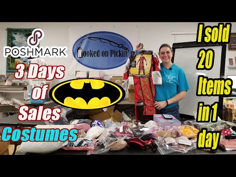 Poshmark sales for 3 days which include Batman, Cosplay, & Black Panther Items - Online Reselling