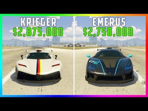 GTA 5 Online Best Supercars - Benefactor Krieger Vs Progen Emerus! ($2,875,000 VS $2,750,000)