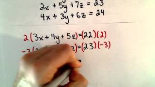 word problem system of linear equations 3 unknowns 3 variables