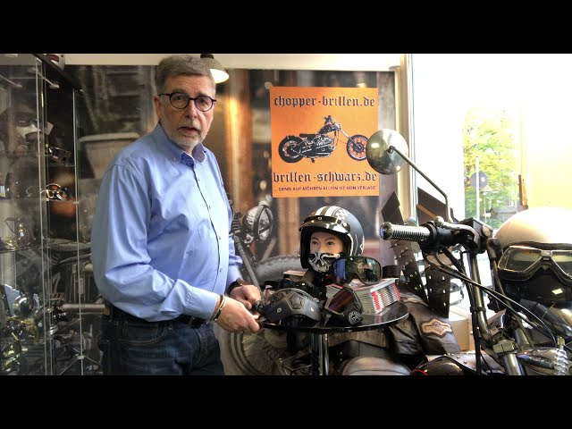 Bikerbrillen bzw. Chopperbrillen Tips Bandbrille mit Maske und kleinste Over-Helm-Bandbrille