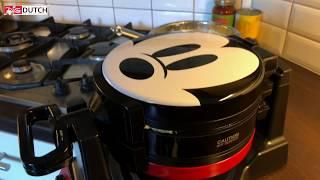 Easy recipe: part 1 . Mickey Mouse 90th Anniversary Double Flip Waffle Maker + recipe