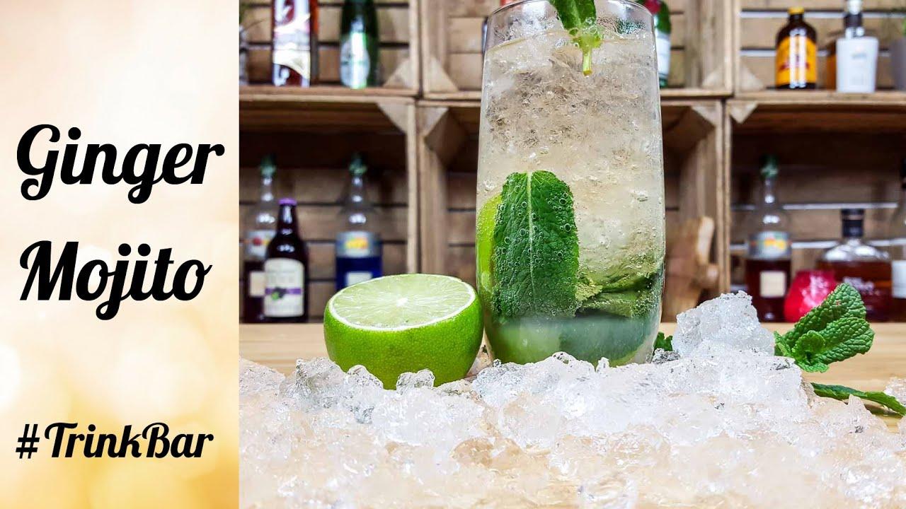 ginger mojito alkoholfreier cocktail selber machen rezept trinkbar youtube. Black Bedroom Furniture Sets. Home Design Ideas