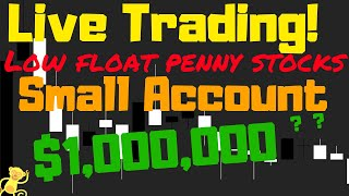 Live day trading penny stocks! Small account live stream of low float stocks