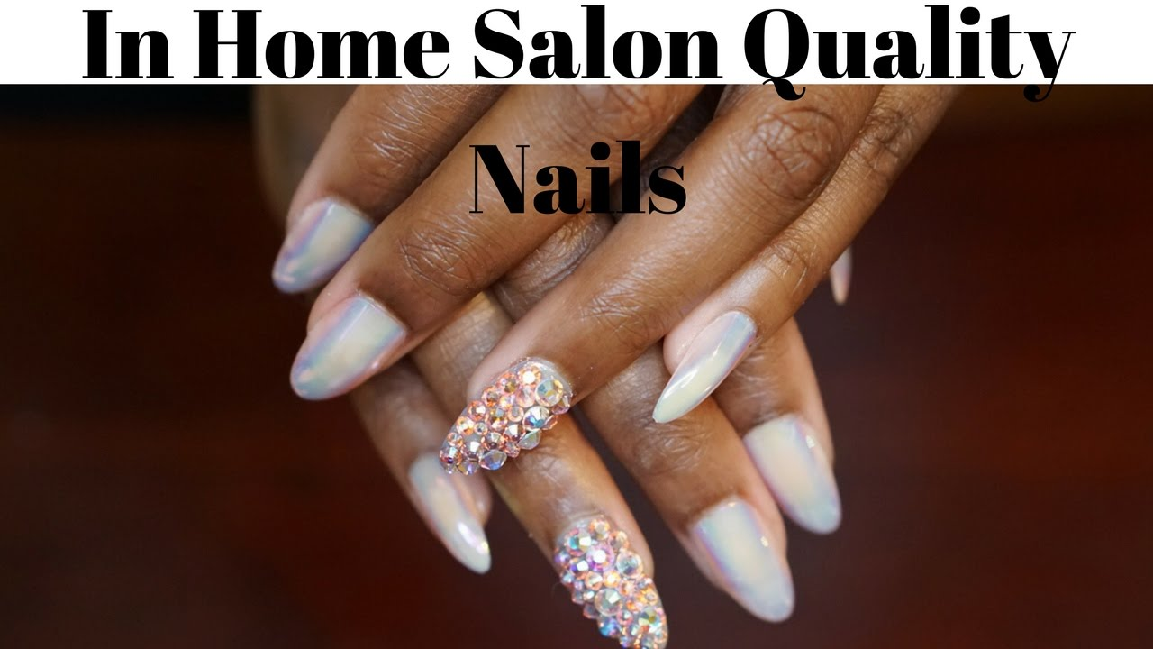 In-Home Salon Nails Empress Tips - YouTube