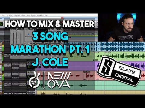 3 Song Marathon Pt. 1!! FULL Mixing & Mastering Studio Session | RAP VOCALS | J. COLE | How To
