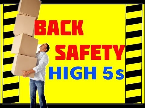 Back Safety The High 5s Prevent Accidents & Injuries Back Safety training video