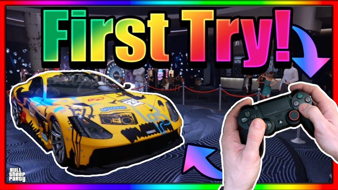 Joystick Cam : How To Win The NEW * Grotti GTO * Lucky Wheel Podium Car First Time  in GTA 5 ONLINE